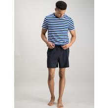 Cobalt Stripe & Navy Woven Pyjama Set