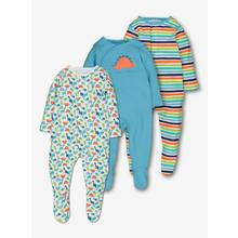 Multicoloured Dinosaur Sleepsuits 3 Pack (0-24 months)