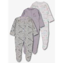 Multicoloured Unicorn Print Sleepsuits 3 Pack (0-24 Months)