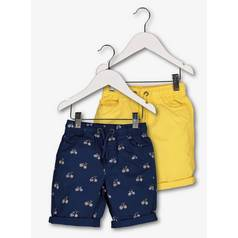 Multicoloured Bicycle Turn-Up Shorts 2 Pack (9 Months - 6 Ye
