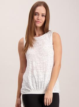 Online Exclusive White Burn Out Vest