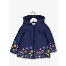 Navy Floral Fleece Lined Mac (9 months - 6 years)