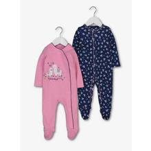 Blue & Pink Llama Sleepsuits 2 Pack (0-24 Months)