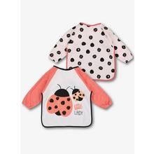 Multicoloured Ladybird Bibs 2 Pack - One Size
