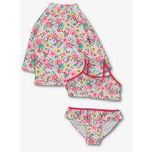 Multicoloured Floral 3 Piece Swim Set (4-12 Years)