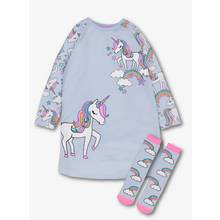 Blue Unicorn Nightie & Sock Set - 11-12 years