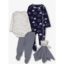 Navy Clouds Starter Set (Tiny Baby -9 months)
