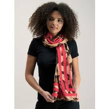 Multicoloured Leopard Print Scarf - One Size