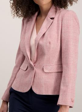 Pink Check Fitted Jacket