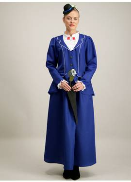 be3b29c9c Disney Mary Poppins Blue Costume 3 Part Set (size 8 - 22)