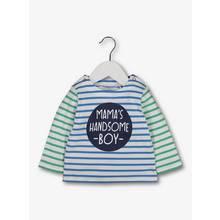 Multicoloured Stripe 'Mama's Handsome Boy' T-Shirt (0-24 mon