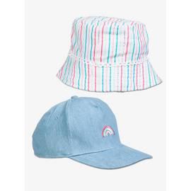 7296f632 Multicoloured Cap & Sun Hat 2 Pack (1-9 years)