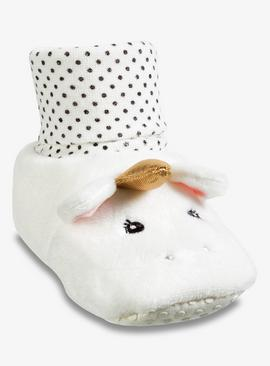 White Unicorn Slippers - 18-24 months