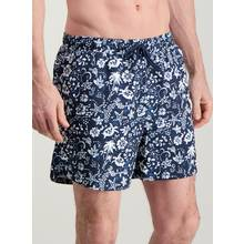 Navy Batik Print Swim Shorts