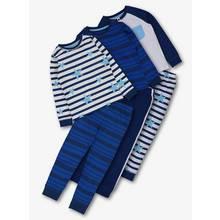 Online Exclusive Blue Star & Stripe Pyjamas 3 Pack (1.5 - 12