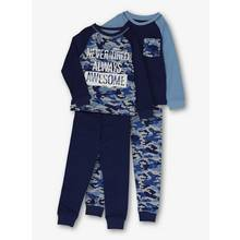 Navy Camouflage Pyjamas 2 Pack (18 months-12 years)