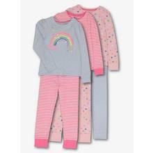 Multicoloured Rainbow Long-Sleeved Pyjamas 3 Pack (18 Months