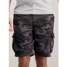 Online Exclusive Grey Camouflage Cargo Shorts