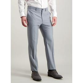 Light Grey Tailored Fit Trousers With Stretch