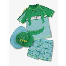 Green Novelty Crocodile Sunsafe with Keppie Hat (9 months -