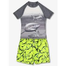 Multicoloured Shark Rash Vest & Shorts (3-12 Years)