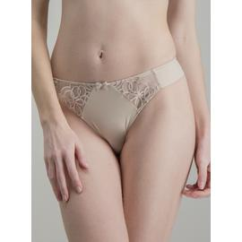 Online Exclusive Nude Lace Bow Detail Thong