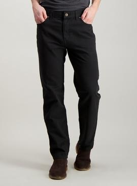 Online Exclusive Black Canvas Slim Fit Trousers
