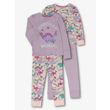 Purple Dinosaur Long-Sleeved Pyjamas (18 Months - 12 Years)