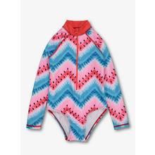 Multicoloured Watermelon Print Rash Bodysuit UPF40+
