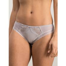Grey Two Tone Laced Brazilian Knickers
