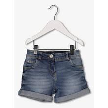 Blue Denim Turn Up Hem Shorts (3-14 years)