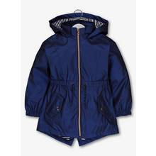 Navy Jersey Lined Mac (3-14 Years)