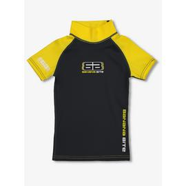 Banana Bite Charcoal & Yellow Rash Vest UPF50+