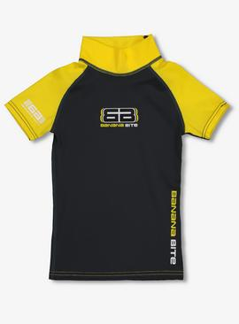 BANANA BITE Charcoal & Yellow Rash Vest