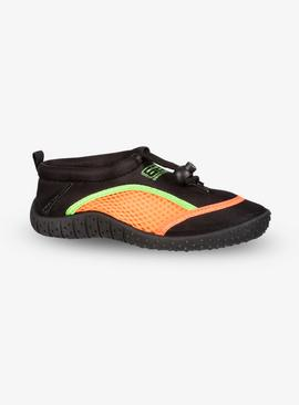 BANANA BITE Black & Neon Orange Wetshoes