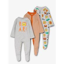 Multicoloured Animal Sleepsuits 3 Pack (0-24 Months)