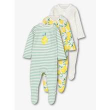 Multicoloured Citrus Sleepsuits 3 Pack (Newborn - 24 Months)
