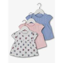 Multicoloured Floral Tops 3 Pack (0-24 months)