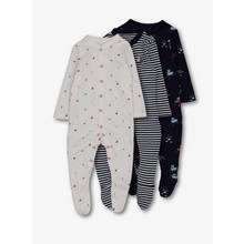 Multicoloured Nautical Sleepsuits 3 Pack (Newborn-24 months)