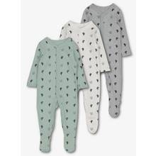 Multicoloured Cactus Sleepsuits 3 Pack (Newborn - 24 Months)