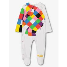 Elmer Multicoloured Cotton Sleepsuit (0-24 Months)