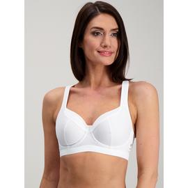 Active White High Impact Sports Bra
