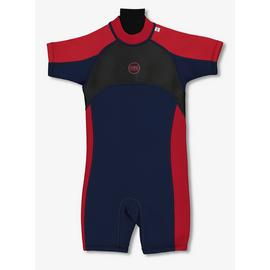 Banana Bite Navy & Red Short Wetsuit