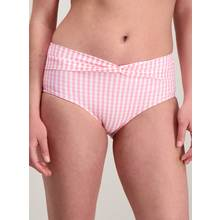 Pink Gingham High Waisted Bikini Briefs