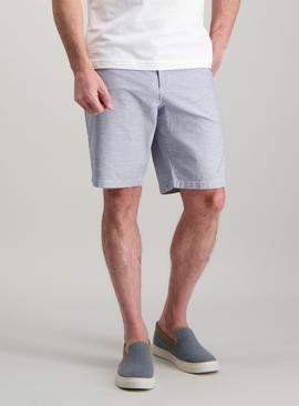 Navy & White Stripe Chino Shorts - 50