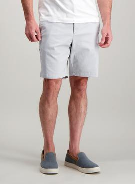 Pastel Grey Chino Shorts With Stretch