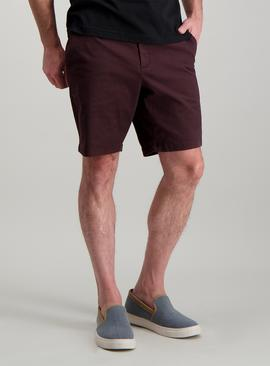 Aubergine Chino Shorts With Stretch