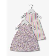 Multicoloured Sleeveless Dresses 2 Pack (0-24 Months)