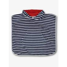Navy Stripe Hooded Poncho Towel - One Size