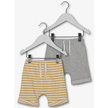 Multicoloured Striped Turn-Up Shorts 2 Pack (0-24 Months)